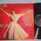 GEORGIA GIBBS--SWINGING WITH HER NIBS--VG++ 1956 LP