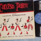 LLOYD SIMMONS--CALYPSO PARTY--1961 Bermuda Import LP