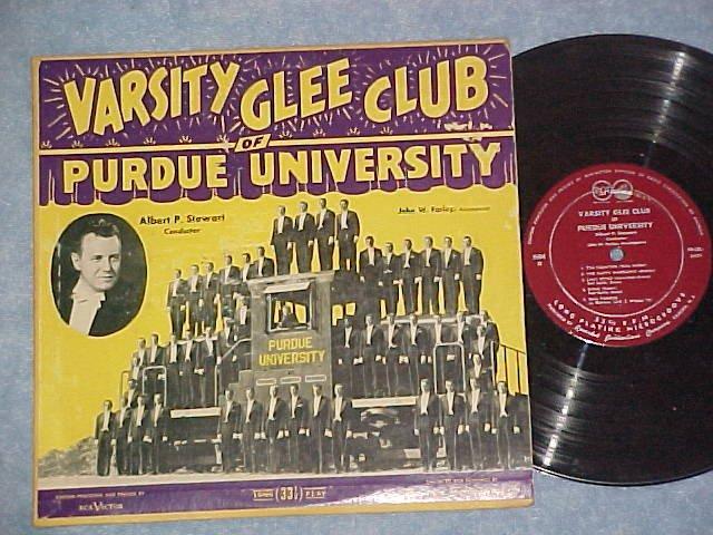 """VARSITY GLEE CLUB OF PURDUE UNIVERSITY-10"""" Early 50s LP"""