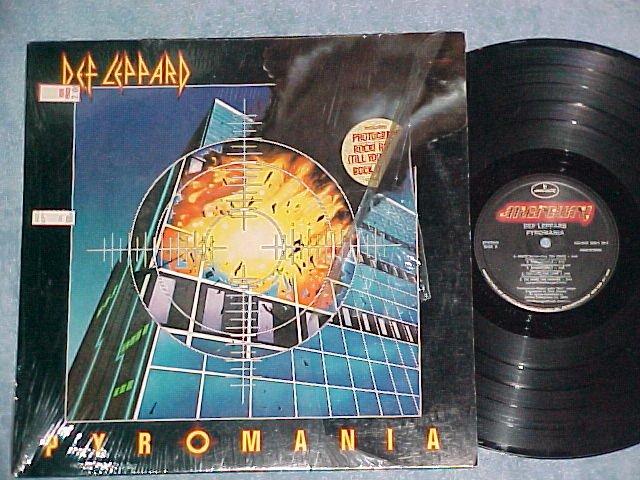 DEF LEPPARD-PYROMANIA--VG+/NM in shrink 1983 Mercury LP