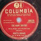 78--ROSETTA HOWARD--TOO MANY DRIVERS--Columbia 38029