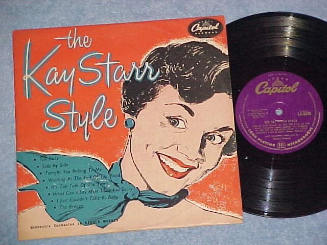 """THE KAY STARR STYLE-10"""" '53 UK Press LP-Capitol LC-6630"""