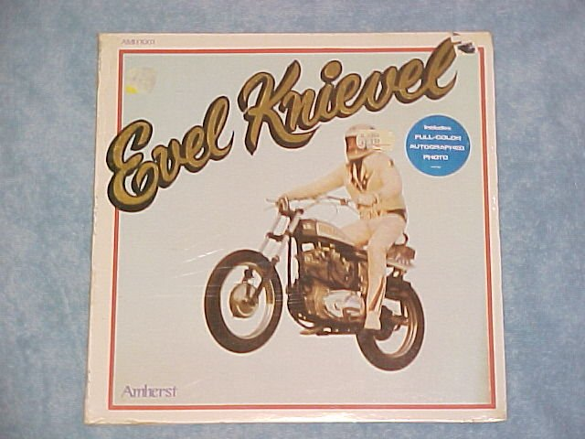 EVEL KNIEVEL-s/t Mint Sealed 1974 LP w/Photo on Amherst