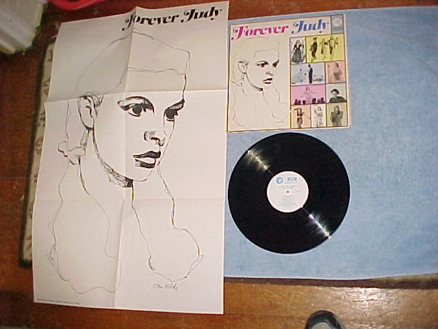 JUDY GARLAND--FOREVER JUDY--1960 Promo Sdk LP w/POSTER