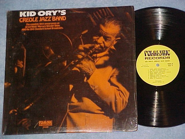 KID ORY'S CREOLE JAZZ BAND--NM shrink 1975 Folklyric LP