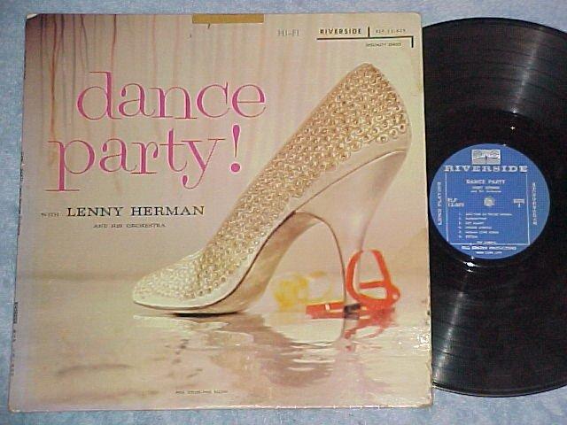 LENNY HERMAN ORCHESTRA--DANCE PARTY!-1957 LP--Riverside