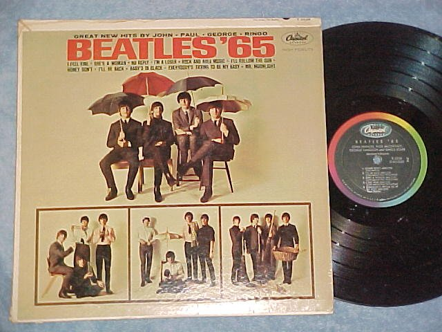THE BEATLES--BEATLES '65--Mono 1964 LP--Capitol T-2228