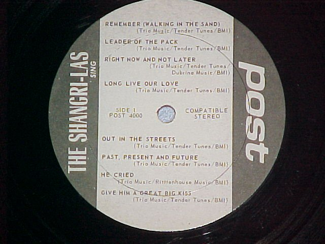 THE SHANGRI-LAS SING--NM 1975 LP--Post 4000 ~No Jacket~