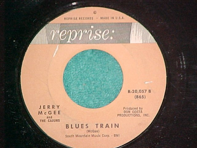 45--JERRY McGEE--BLUES TRAIN/WALKIN'-1962--Reprise--VG+