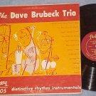 DAVE BRUBECK TRIO-DISTINCTIVE RHYTHM INSTRUMENTALS--LP