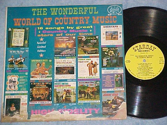 WONDERFUL WORLD OF COUNTRY MUSIC-1964 Cmpltn Starday LP