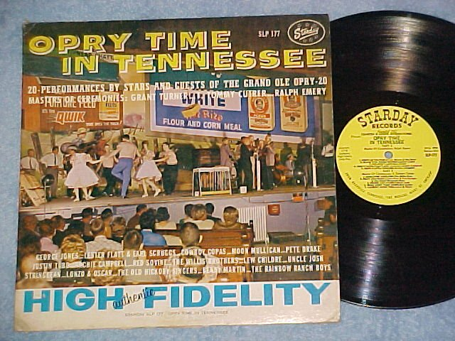 OPRY TIME IN TENNESSEE--VG+ 1962 Compilation Starday LP