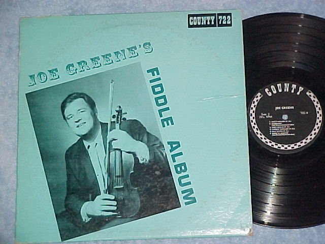 JOE GREENE'S FIDDLE ALBUM--VG+ 1969 LP--County 722