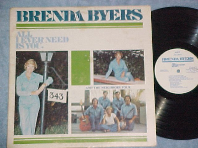 BRENDA BYERS--ALL I EVER NEED IS YOU--NM/VG+ 1986 LP