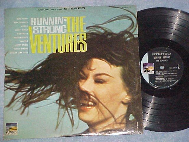 THE VENTURES--RUNNIN' STRONG--VG+ 1966 LP on Sunset