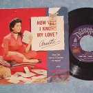 45 w/PS-ANNETTE-HOW WILL I KNOW MY LOVE-1958-Disneyland