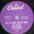 78-THE FIVE KEYS-OUT OF SIGHT,OUT OF MIND--Capitol--VG+