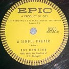 78-ROY HAMILTON--A SIMPLE PRAYER--1957--Epic 9203--VG++