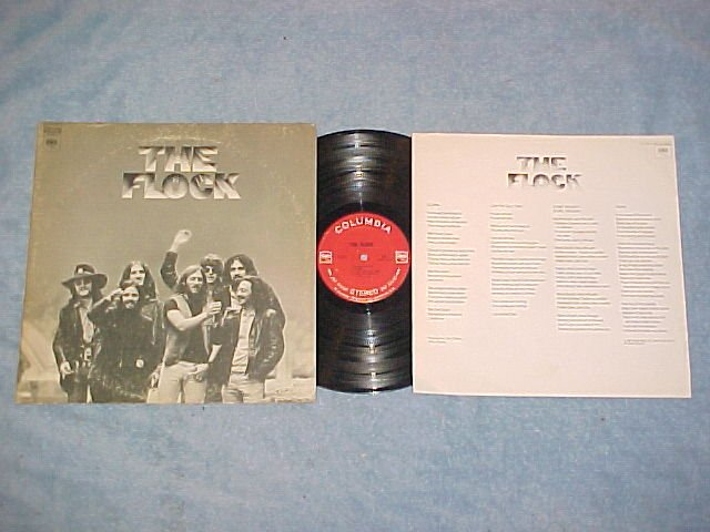 THE FLOCK--Self Titled 1969 LP with Lyric Sheet Insert
