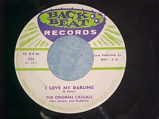 45-ORIGINAL CASUALS-I LOVE MY DARLING-'58-Back Beat 503