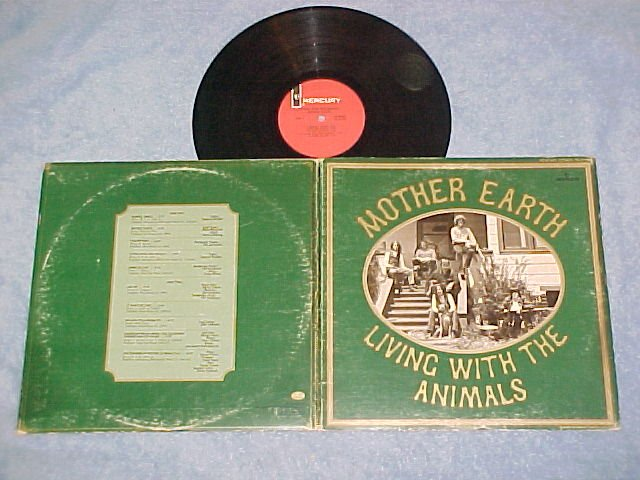 MOTHER EARTH-LIVING WITH THE ANIMALS-VG+ '68 LP-Mercury