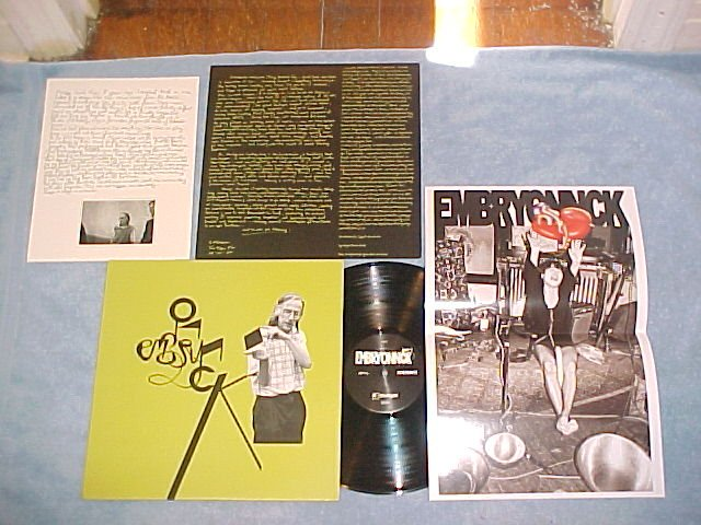 NO-NECK BLUES BAND/EMBRYO-EMBRYONNCK-Germany LP-Inserts
