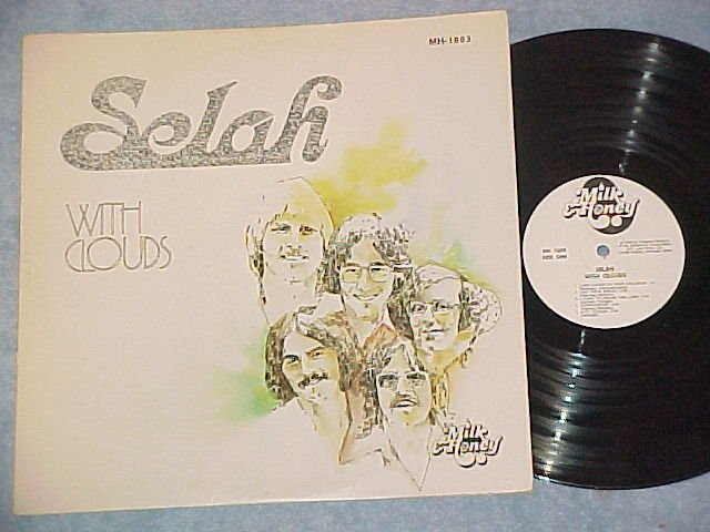 SELAH--WITH CLOUDS--NM/VG+ 1976 LP-Milk and Honey label