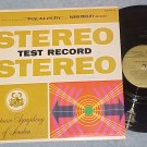 REALISTIC STEREO TEST RECORD-NM/VG+ 1969 LP-Radio Shack