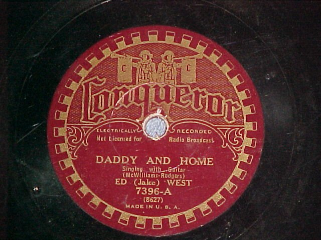 78-ED (JAKE) WEST-DADDY AND HOME/FRANK LUTHER-Conqueror