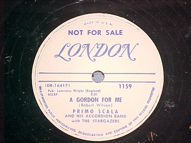 WL Promo 78-PRIMO SCALA-A GORDON FOR ME-'52-London 1159