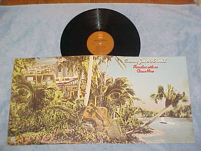COUNTRY JOE McDONALD-PARADISE WITH AN OCEAN VIEW-'75 LP