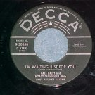 45-CASS DALEY,HOAGY CARMICHAEL-I'M WAITING JUST FOR YOU