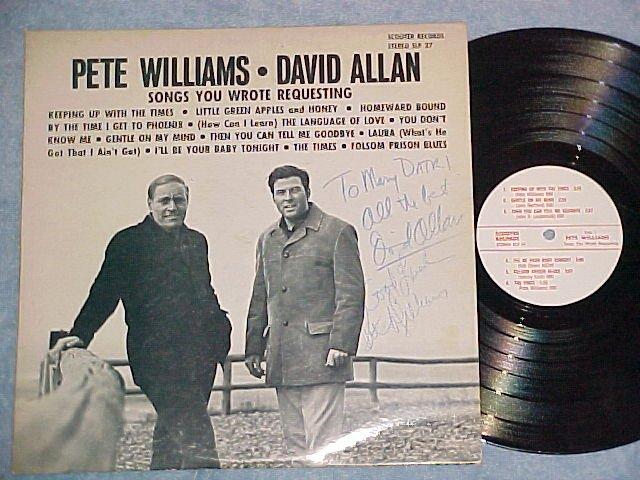 PETE WILLIAMS AND DAVID ALLAN-Private Schenectady,NY LP