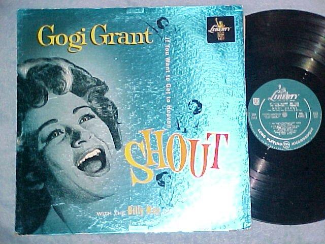 GOGI GRANT--SHOUT--VG++ 1960 LP--Liberty--Foil Cover