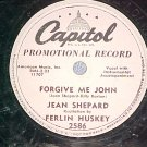 78-JEAN SHEPARD & FERLIN HUSKY-FORGIVE ME JOHN-WL Promo