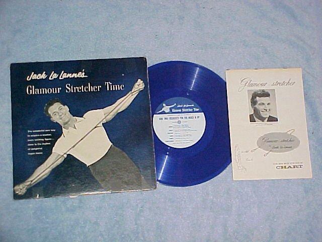 """JACK LA LANNE'S GLAMOUR STRETCHER TIME-10""""Blue Vinyl LP"""