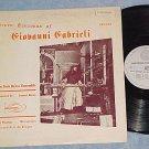 Gabrieli: Seven Canzonas--NY Brass Ensemble--Stereo LP