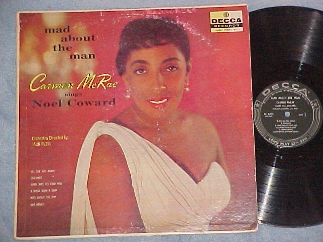 CARMEN McRAE--MAD ABOUT THE MAN--1958 LP--Decca DL-8662