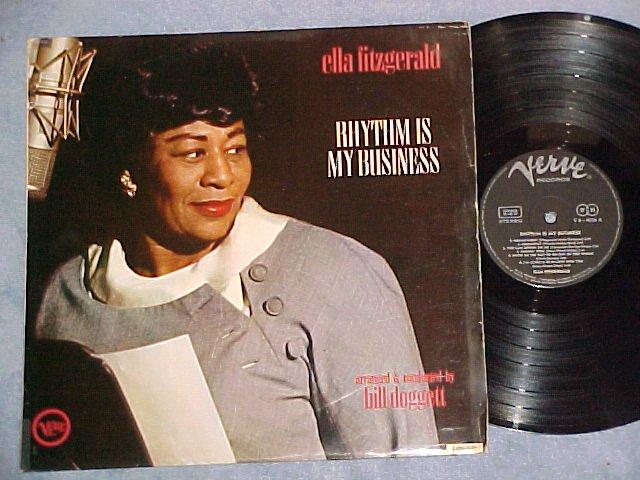 ELLA FITZGERALD-RHYTHM IS MY BUSINESS-Stereo Germany LP