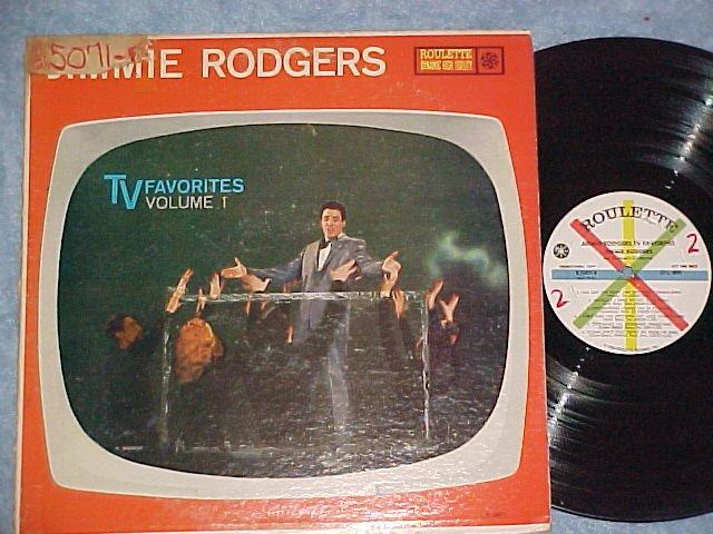 JIMMIE RODGERS-TV FAVORITES-Vol 1-VG++/VG 1959 Promo LP