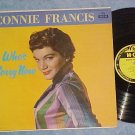 CONNIE FRANCIS-WHO'S SORRY NOW-1958 LP-MGM Yellow Label
