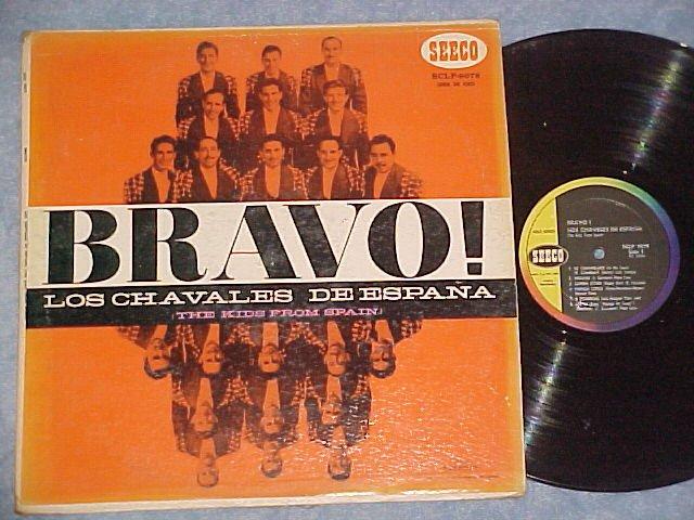 LOS CHAVALES DE ESPANA--BRAVO!-NM/VG 1956 LP-Seeco 9079
