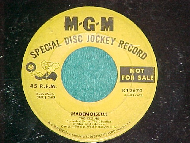 45--THE ELGINS--MADEMOISELLE--1958--MGM 12670--Promo