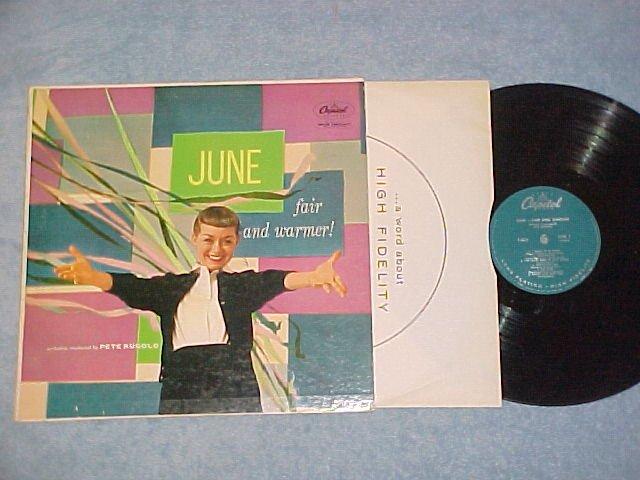 JUNE CHRISTY--JUNE: FAIR AND WARMER!--VG/VG+ 1957 LP