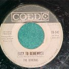 45-THE RIVIERAS-EASY TO REMEMBER-1960-Coed 542-WL Promo