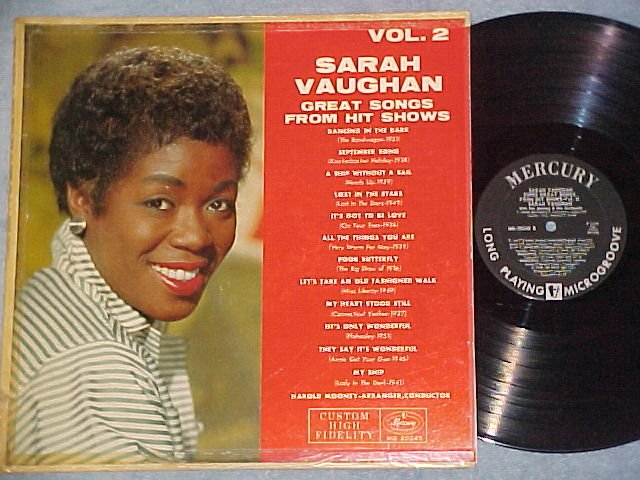 SARAH VAUGHAN-GREAT SONGS FROM HIT SHOWS-Vol. 2-1958 LP