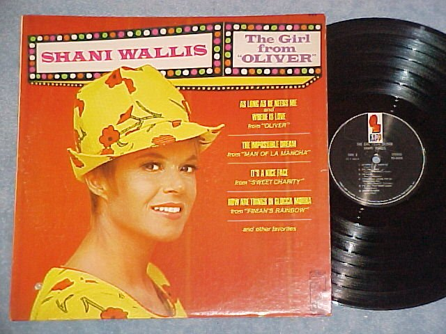 """SHANI WALLIS--THE GIRL FROM """"OLIVER""""--VG+/VG++ 1969 LP"""