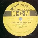 Promo 78-DANNY WINCHELL-I CAN'T HELP LOVING YOU-'52-MGM