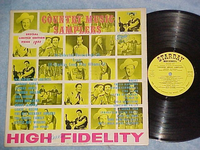 COUNTRY MUSIC SAMPLERS--VG++/VG+ 1962 Starday Cmpltn LP