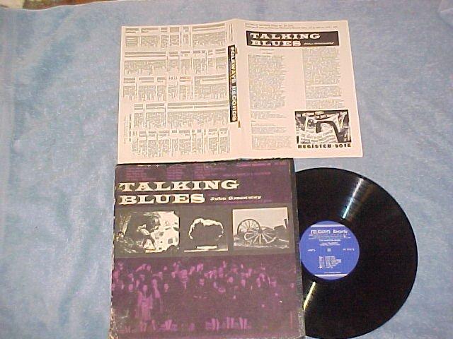 JOHN GREENWAY-(THE) TALKING BLUES--Folkways LP w/Insert
